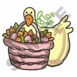 DUCK WITH SUNFLOWERS embroidery design
