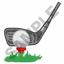 ADDRESSING THE GOLF BALL embroidery design