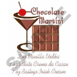CHOCOLATE MARTINI embroidery design
