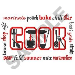 COOKING TERMS embroidery design