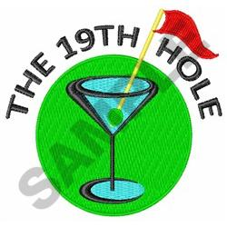 THE NINETEENTH HOLE embroidery design