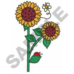 BUGS AND SUNFLOWERS embroidery design