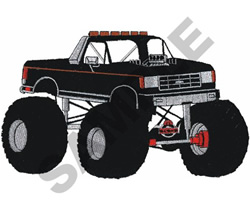 MONSTER TRUCK embroidery design