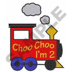 CHOO CHOO IM TWO embroidery design