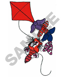 CAT & KITE embroidery design