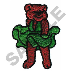 BEAR IN A DRESS embroidery design