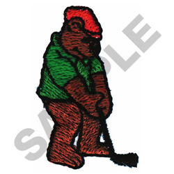 GOLFING BEAR embroidery design