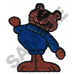 MUSCLE BEAR embroidery design