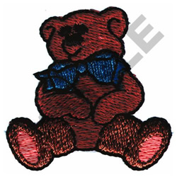 BOW TIE BEAR embroidery design