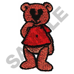 THINKING BEAR embroidery design