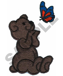 BEAR & BUTTERFLY embroidery design