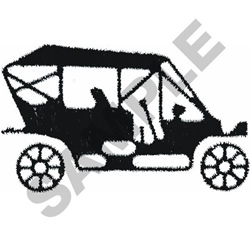 OLD CAR OUTLINE embroidery design