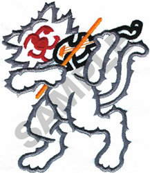 CAT AND THE FIDDLE embroidery design