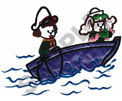 SAILING PUPPIES embroidery design