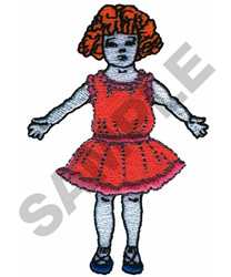 PAPER DOLL embroidery design