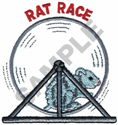 RAT RACE embroidery design