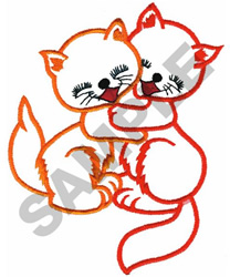 LOVABLE KITTENS embroidery design
