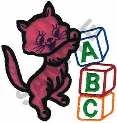 KITTY BUILDING BLOCKS embroidery design