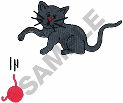KIITEN AND YARN POCKET TOPPER embroidery design