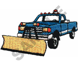TRUCK W/PLOW embroidery design