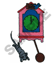 HICKORY DICKORY DOCK embroidery design
