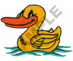 RUBBER DUCK embroidery design