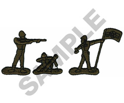 ARMY MEN embroidery design