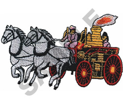 FIRE WAGON embroidery design