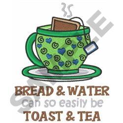 TOAST AND TEA embroidery design