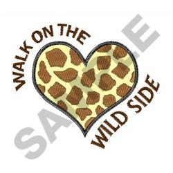 THE WILD SIDE embroidery design