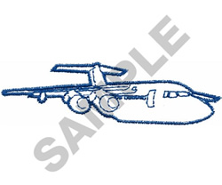 JUMBO JET OUTLINE embroidery design