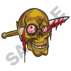 KNIFE THROUGH SKULL embroidery design