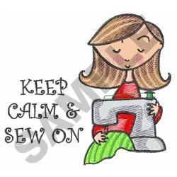 KEEP CALM AND SEW ON embroidery design