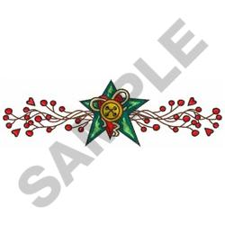 COUNTRY WALL BUTTON embroidery design