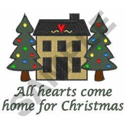 HEARTS COME HOME embroidery design