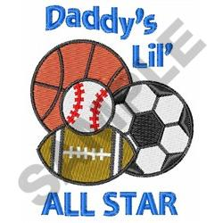 DADDYS ALL STAR embroidery design
