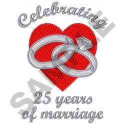 TWENTY FIVE YEARS MARRIAGE embroidery design