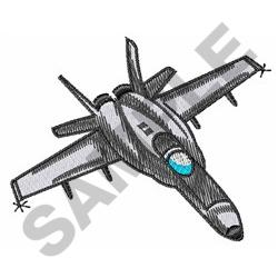 FIGHTER JET embroidery design