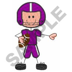 FOOTBALL PLAYER embroidery design