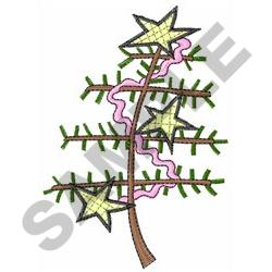 STICK XMAS TREE embroidery design