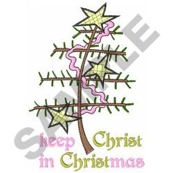 KEEP CHRIST IN CHRISTMAS embroidery design