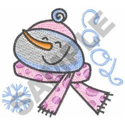 SNOWMAN COOL embroidery design