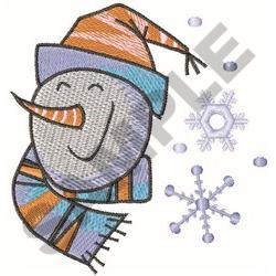 SNOWMAN AND SNOWFLAKES embroidery design
