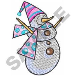 CUTE SNOWMAN embroidery design