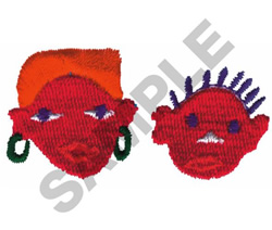 AFRICAN FACES embroidery design