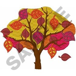 FALL TREE embroidery design