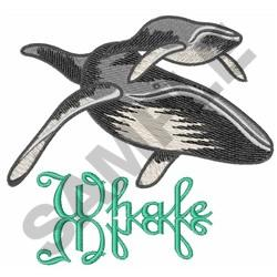 HUMPBACK WHALES embroidery design