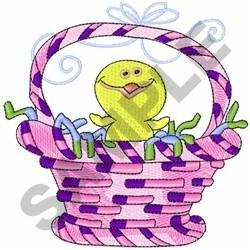 CHICK IN EASTER BASKET embroidery design