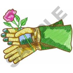 ROSE PRUNING GLOVES embroidery design