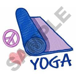 PEACE LOVE YOGA embroidery design
